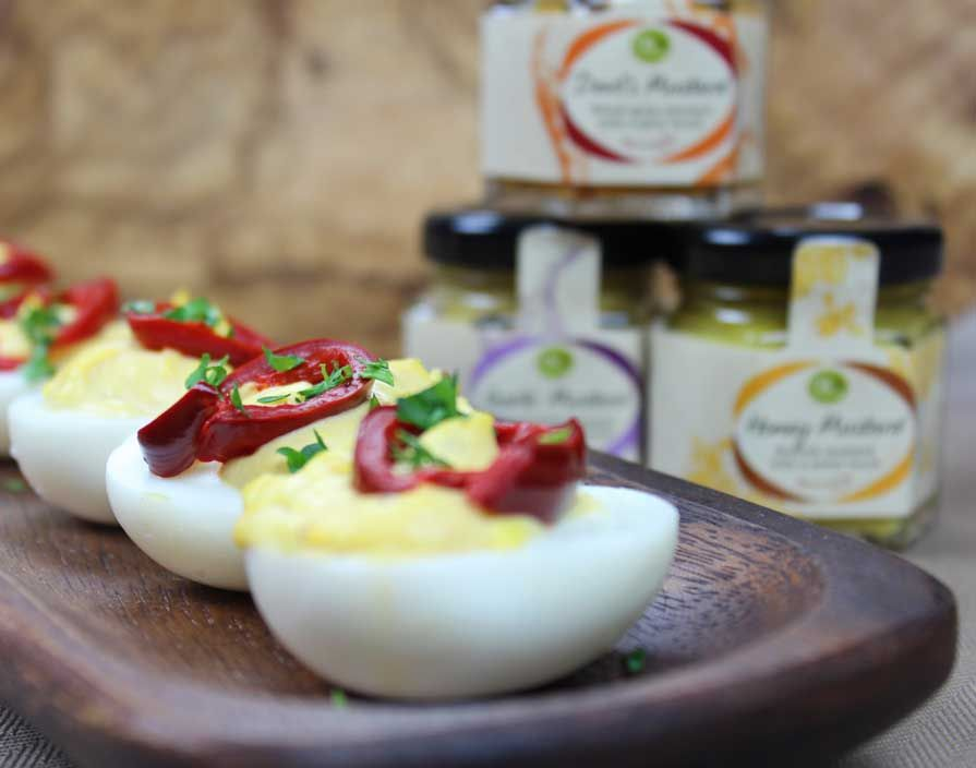 Oil & Vinegar | Recipes | Mustard Trio Deviled Eggs ...