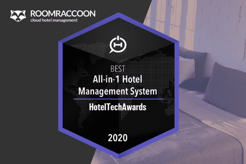 RoomRaccoon is Best Hotel Management System in de 2020 HotelTechAwards