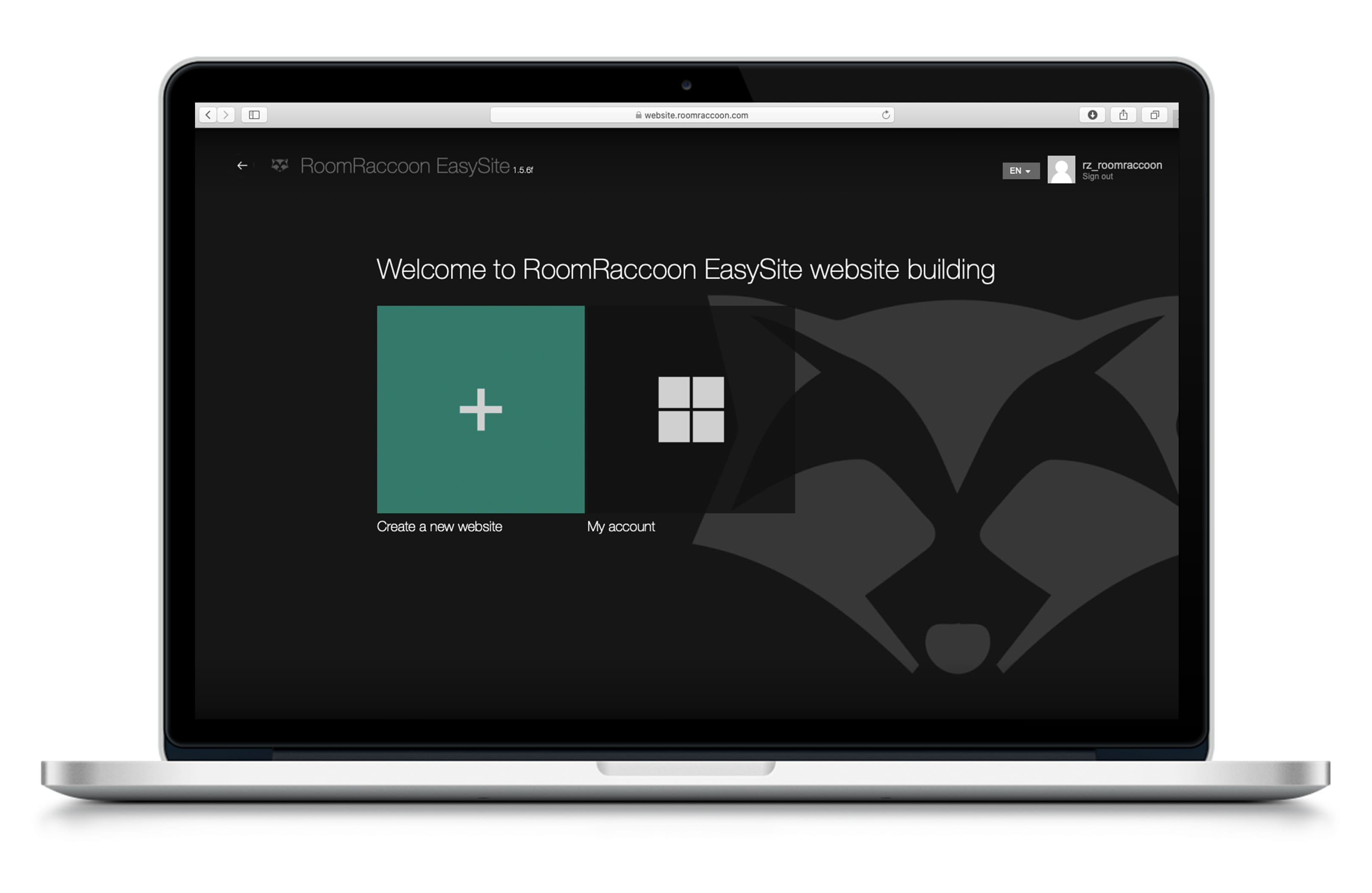 RoomRaccoon Hotel Website